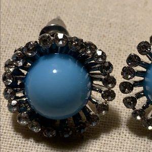 Jewelry - New CZ sparkle and blue gem studs.